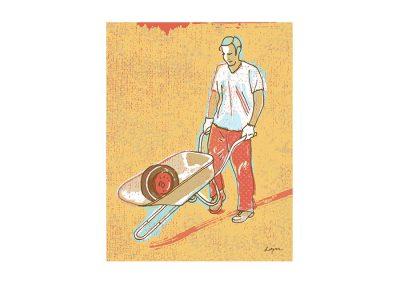 Wheelbarrow Man